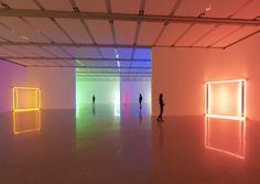 "acetoxy:Dan Flavin - ""Poetry of Reduction"" exhibition in Vienna, 2012"