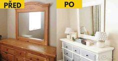 20 úžasných nápadů jak znovu zužitkovat starý nábytek Reuse, Mirror, Furniture, Design, Home Decor, Gardening, Vintage, Beds, Decoration Home