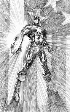 Captain America by Philip Tan, in J M T's Philip Tan Comic Art Gallery Room Comic Book Artists, Comic Book Characters, Marvel Characters, Comic Artist, Comic Character, Comic Books Art, Captain America Art, Marvel Comics Art, Comic Kunst