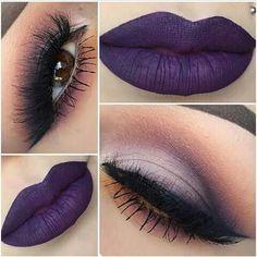 Labios purpura fuerte