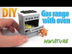 DIY Realistic Miniature Gas range with Oven | DollHouse - YouTube
