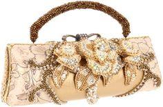 Mary Frances Champagne Kisses Evening Bag,Champagne/Ivory,One Size Mary Frances Purses, Mary Frances Handbags, Unique Handbags, Unique Purses, Custom Purses, Vintage Purses, Beautiful Bags, Clutch Purse, Evening Bags