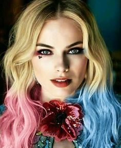 """Margot Robbie as Harley Quinn in """"Suicide Squad"""" Arlequina Margot Robbie, Margo Robbie, Actress Margot Robbie, Margot Robbie Harley Quinn, Harley Quinn Et Le Joker, Harley And Joker Love, Harley Quinn Drawing, Harley Quinn Cosplay, Harley Quenn"""
