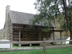 The Hatfield-McCoy Feud: Reproduction of the home that belonged to Rev. Anderson Hatfield