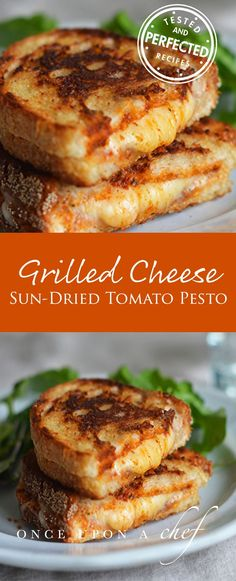Grilled Cheese Sandwiches with Sun-Dried Tomato Pesto #SunSunSun Croissant Sandwich, Soup And Sandwich, Grilled Sandwich Ideas, Pesto Sandwich, Grill Sandwich, Pesto Pizza, Chicken Sandwich, I Love Food, Good Food