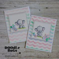 MFT STAMPS: Adorable Elephants
