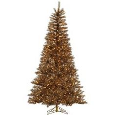 4.5 ft. Metal Mix Tinsel Pre-lit Artificial Christmas Tree - Clear Lights