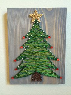 tree string art - Order from KiwiStrings on Etsy! ( )Christmas tree string art - Order from KiwiStrings on Etsy! ( ) tree string art - Order from KiwiStrings on Etsy! ( )Christmas tree string art - Order from KiwiStrings on Etsy! Etsy Christmas, Christmas Art, Christmas Projects, Winter Christmas, Christmas Decorations, Holiday Ornaments, Quilling Christmas, Holiday Tree, Holiday Decorating
