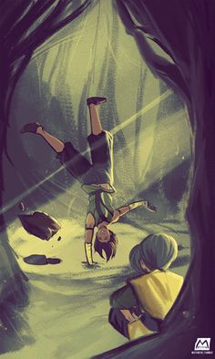 Korra and Toph- Book four