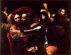 The Taking of Christ is a painting, of the arrest of Jesus, by the Italian Baroque master Michelangelo Merisi da Caravaggio. Originally commissioned by the Roman nobleman Ciriaco Mattei in it is housed in the National Gallery of Ireland, Dublin. Baroque Painting, Baroque Art, Italian Baroque, Italian Painters, Italian Artist, Michelangelo Caravaggio, Renaissance Kunst, Renaissance Time, National Gallery