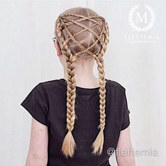 Elastics braid with only three strand braids. No french braiding required! Little Girl Hairstyles, Easy Hairstyles, French Braid, Ponytail, Dutch Braids, Photo And Video, Hair Styles, Instagram Posts, Alternative