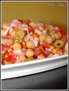 Chickpea Salad. http://recetasde2.blogspot.com.es/