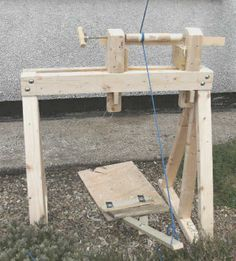 Make a Pole Lathe (out of rustic wood would be nicer for events.)