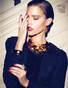 Kim Cloutier by Max Abadian for Luxure Magazine 2013