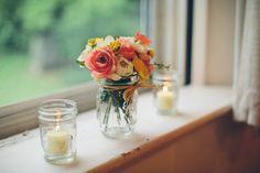 Rustic Wedding - Church Decorations - Mason Jar - Candles - Country Wedding