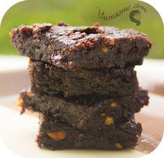 Vegan brownies made in a rice cooker