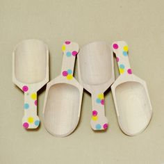 $3.15 Confetti Wooden Scoops