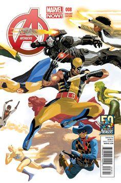 "Part 3. Avengers (2013) - #8  ""Starbranded"" (Daniel Acuna Avengers 50th Anniversary Variant Cover- Part 3)"
