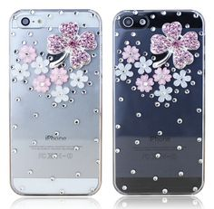 Four Leaf Clover iPhone 4 4S 5 5S Case Rhinestone iPhone Cases