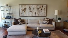 Commissioned Abstract artwork by Maya Eventov from Crescent Hill Gallery in Mississauga, ON Toronto Art Gallery, Maya, Original Artwork, Couch, The Originals, Abstract, Artist, Furniture, Home Decor