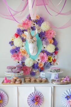 Whimsical Unicorn themed birthday party via Kara's Party Ideas | KarasPartyIdeas.com #whimsicalunicornparty (34)