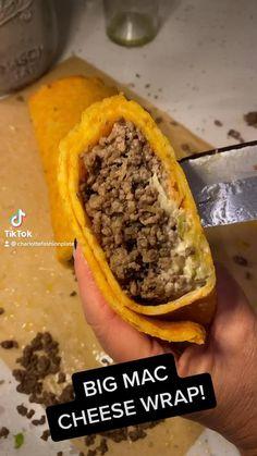 Haitian Marinade Recipe, Low Carb Recipes, Cooking Recipes, Burger Recipes, Mac Recipe, Cheese Wrap, Big Mac, Vegan Foods, Food Cravings