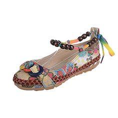 d2522561f Familizo Chaussures Ethniques Brodées pour Femmes