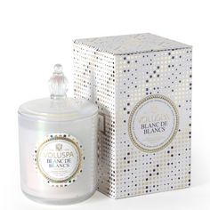 CLASSIC MAISON CANDLE WITH LID - Blanc de blancs - Dry and crisp with a vibrant fruitful and crisp nature. Made from chardonnay.