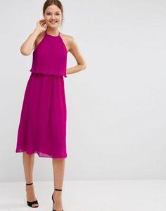 ASOS Pleated Double Layer Midi Dress