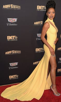 Keke Palmer stuns at the AVFF Awards on Sunday in Beverly Hills.