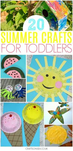 Need some inspiration for Summer activities for toddlers? We& got all the ideas you need for your kids with the most fun crafts and easiest activities including paper plate crafts, sensory play, suncatchers, sea crafts, easy sun crafts and more! Summer Activities For Toddlers, Summer Crafts For Kids, Summer Kids, Spring Crafts, Summer Games, Baby Activities, Art Projects For Toddlers, Summer Activities For Preschoolers, Art For Toddlers