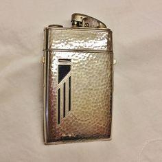 Vintage EVANS Art Deco CIGARETTE case LIGHTER by mytesoros on Etsy