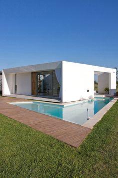 dom płaski dach