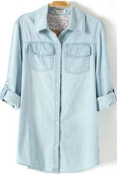 Light Blue Denim Woman's shirt//