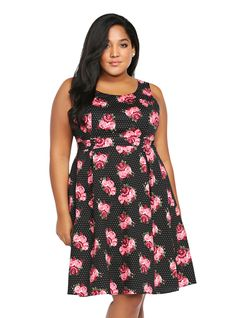 8786733df Plus Size Capsule Wardrobe · Floral Print Pleated Tank Dress | Torrid Love  Clothing, Trendy Plus Size Clothing, Plus