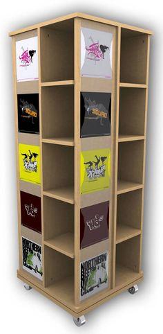 China wooden floor rotating clothing shop display cabinets for garment retail stores supplier Shop Interior Design, Retail Design, Store Design, T Shirt Storage, Locker Storage, Merchandising Displays, Store Displays, Shop Front Design, Retail Space