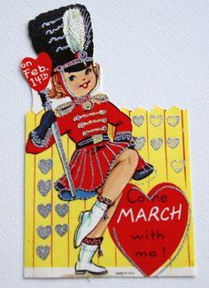 1960s Vintage a majorette Valentine