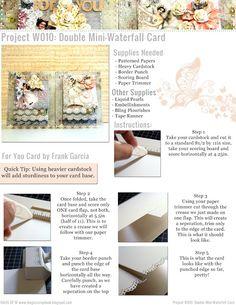 Haus Of W: Project W010: Double Mini-Waterfall Card