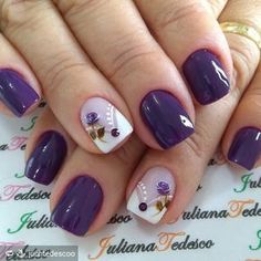 35 best summer nail art designs you must try 00072 Nail Art Violet, Purple Nail Art, Spring Nail Art, Spring Nails, Summer Nails, Nail Art Designs, Purple Nail Designs, Flower Nails, Fabulous Nails