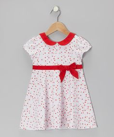 Take a look at this White & Red Star Floral Dress - Infant & Toddler by P'tite Môm on #zulily today!