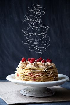 Raspberry and Biscoff Crepe Cake a real show stopper from http://whipperberry.com