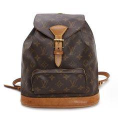 Louis Vuitton Montsouris MM  Monogram Backpacks Brown Canvas M51136