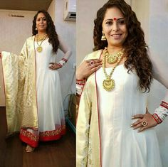 outfit courtesy hair make up Raju Indian Wear, Ethnic, Sari, Make Up, Suits, How To Wear, Dancers, Instagram, Fashion