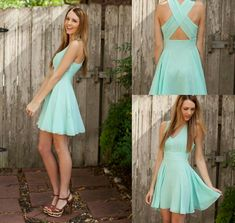 blue sundress with X cross back...it's a little short, but maybe it could be used as a beach coverup?