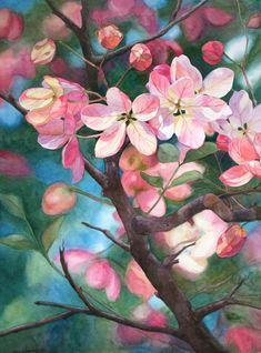 Rainbow Showers by Jan Lawnikanis Original Artwork, Original Paintings, Buy Art Online, Paintings For Sale, Artist Art, Cool Artwork, Online Art Gallery, Floral Watercolor, Lovers Art
