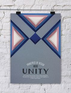 The principles of designs are transformed into beautiful, minimalist posters.