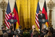 President Obama and Chancellor Merkel Participate in Joint Press Conference (2)