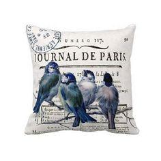 Oreiller couverture Bluebird Français Paris par JolieMarche sur Etsy