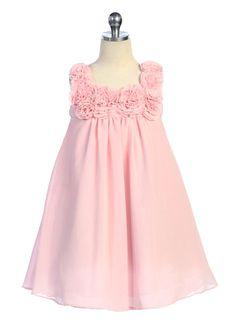 Pink Simple Elegant Girl Dress