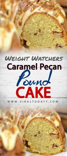 Caramel Pecan Pound Cake – Page 2 – All about Your Power Recipes - - Ww Desserts, Healthy Desserts, Delicious Desserts, Dessert Recipes, Healthy Recipes, Low Sugar Recipes, Ww Recipes, Baking Recipes, Weight Watchers Meal Plans